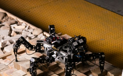 Legged Robot traversing uneven terrain in QCAT workshop