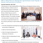 Press release for Pakistan and Australia water MOU