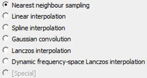 Resampling method options