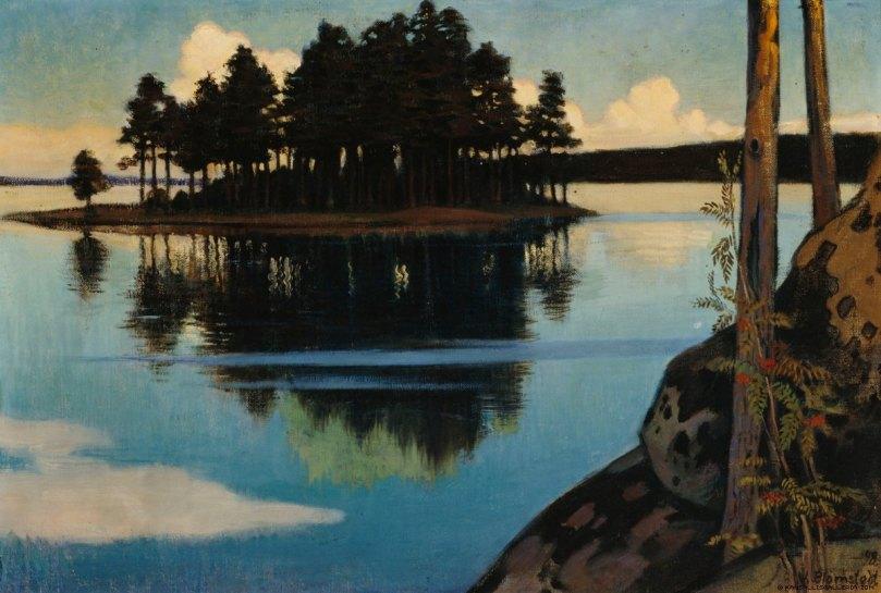 Väinö Blomstedt, Sunset, 1898. Ateneum Art Museum. Photo: Finnish National Gallery / Hannu Aaltonen.