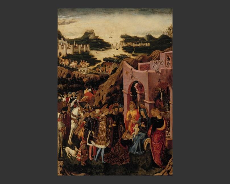 Giovanni Boccati, The Adoration of the Magi, (1440–1445), oil on panel, 80cm x 53,2cm, Aspelin-Haapkylä Collection, Sinebrychoff Art Museum. Photo: Finnish National Gallery / Hannu Aaltonen