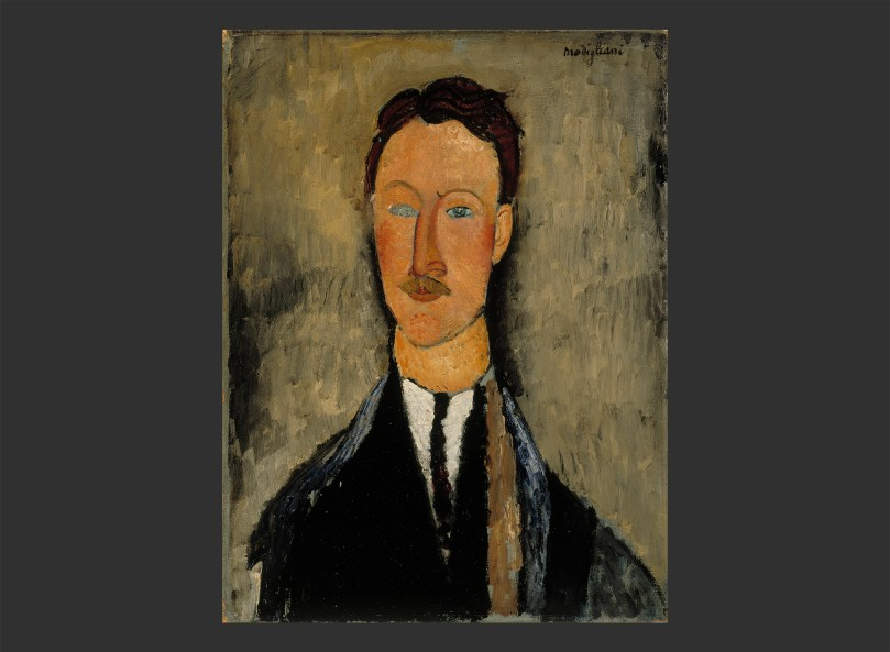 Amedeo Modigliani, Portrait of the Artist Léopold Survage, 1918, oil on canvas, 61,5cm x 46cm, Finnish National Gallery, Ateneum Art Museum. Photo: Finnish National Gallery / Hannu Aaltonen
