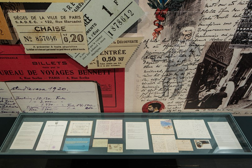 Selections from the Finnish National Gallery archive collections are shown permanently in the collections exhibition The Stories of Finnish Art at the Ateneum Art Museum. A display case containing material related to Finnish artists in Italy at the end of the 19th century Photo: Finnish National Gallery / Hannu Aaltonen