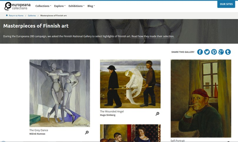 Masterpieces of Finnish Art at the Europeana Collections