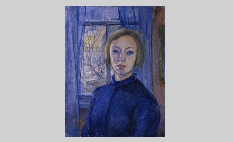 Eva Cederström, Self-portrait, 1937, oil on canvas, 65.5cm x 51cm.Lappeenranta Art Museum Photo: Lappeenranta Art Museum / Tuomas Nokelainen