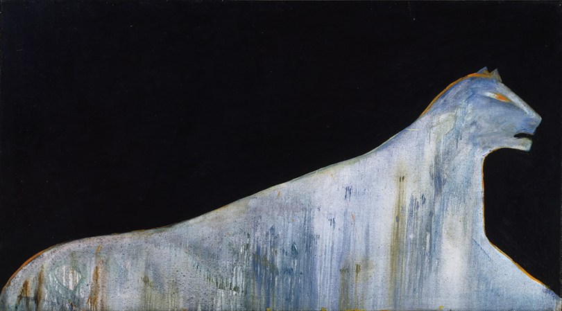 Leena Luostarinen, Rain, 1981, oil on canvas, 100cm x 180cm. Finnish National Gallery / Museum of Contemporary Art Kiasma Photo: Finnish National Gallery / Antti Kuivalainen