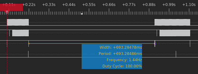 Logic analyzer capture demonstrating this 700ms window (first preloader is invalid)