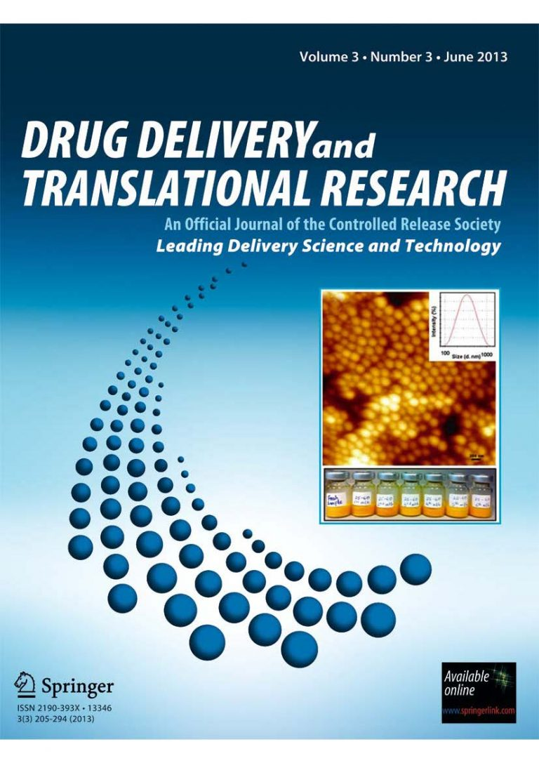 Dru Delivery and Translational Research cover