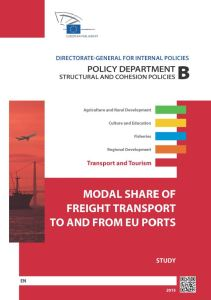 Modal Share of Freight Transport to and from EU Ports