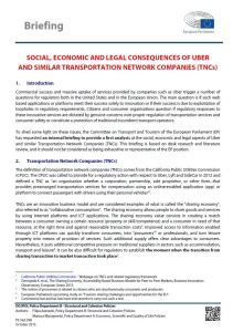 Social, Economic and Legal Consequences of Uber and Similar Transportation Network Companies (TNCs)