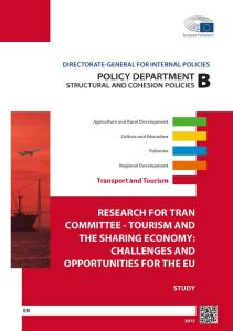 Tourism and the Sharing Economy: Challenges and Opportunities for the EU