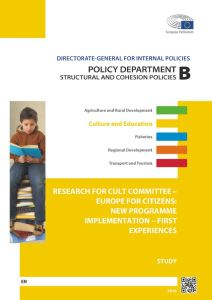 Europe for Citizens: New Programme Implementation – First Experiences