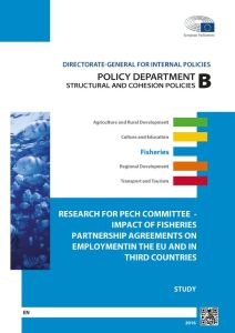 Impact of Fisheries Partnership Agreements on Employment in the EU and in Third Countries