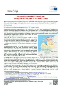 Transport and Tourism in the Baltic States