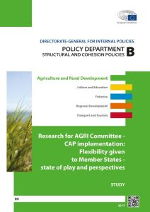 CAP implementation: Flexibility given to Member States - state of play and perspectives
