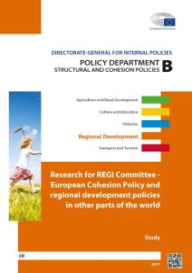 European Cohesion Policy and regional development policies