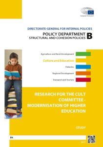 Modernisation of higher education