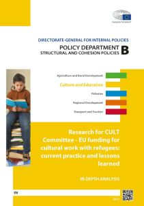 EU funding for cultural work with refugees: current practice and lessons learned