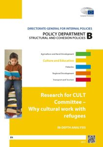 Why cultural work with refugees
