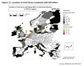 Figure 11: Location of wind farms combined with SSF effort
