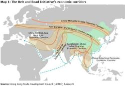 Map 1: The Belt and Road Initiative's economic corridors