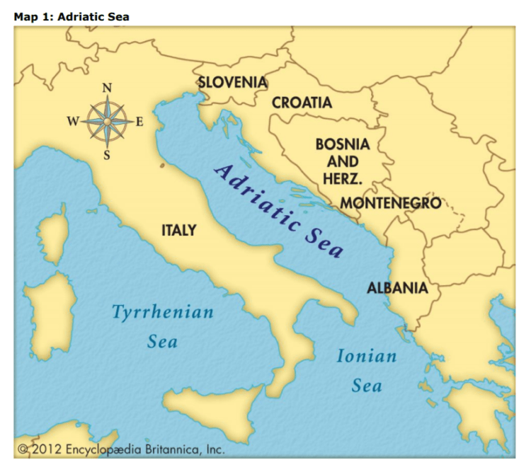 adriatic sea europe map The Clam Fisheries Sector in the EU – The Adriatic Sea Case