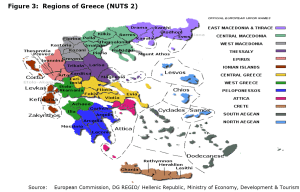 Figure 3: Regions of Greece (NUTS 2)