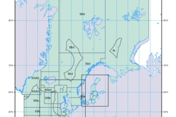 Map 1: The Northeast Atlantic (Major Fishing Area 27) with the ICES fishing areas for statistical purposes