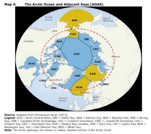 Map 4: The Arctic Oocean and Adjacent Seas (AOAS)