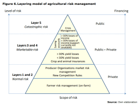 Figure 6.Layering model of agricultural risk management