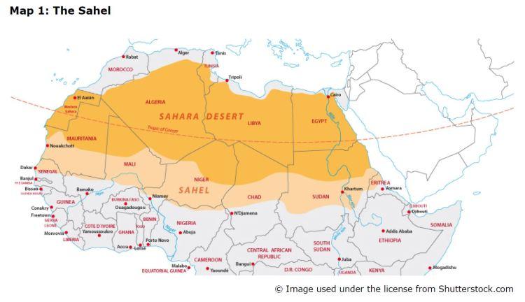 Map 1: The Sahel