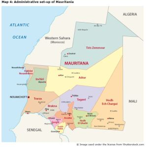 Map 4: Administrative set-up of Mauritania