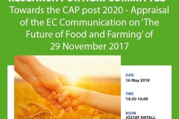 Towards the CAP post 2020 - Appraisal of the EC Communication on 'The Future of Food and Farming' of 29 November 2017'