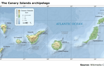 Map 3: The Canary Islands archipelago