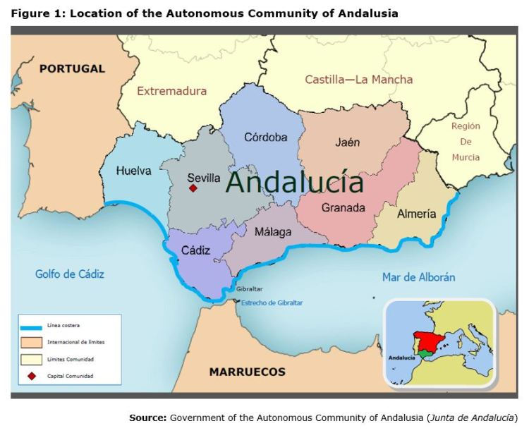 Figure 1: Location of the Autonomous Community of Andalusia