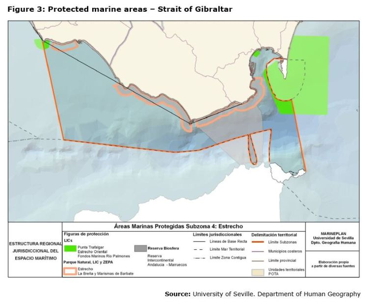 Figure 3: Protected marine areas – Strait of Gibraltar