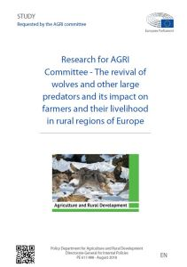 The revival of wolves and other large predators and its impact on farmers and their livelihood in rural regions of Europe