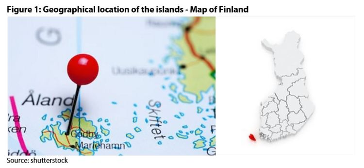 Figure 1: Geographical location of the islands - Map of Finland
