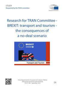 BREXIT: transport and tourism - the consequences of a no-deal scenario