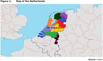Figure 1: Map of the Netherlands