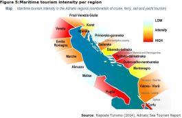 Figure 5: Maritime tourism intensity per region