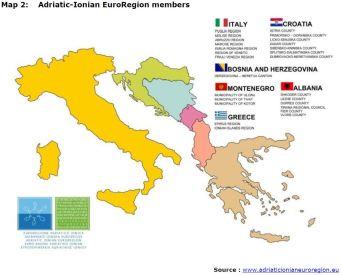 Map 2: Adriatic-Ionian EuroRegion members