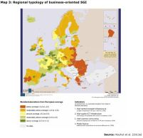 Map 3: Regional typology of business-oriented SGI