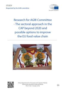 The sectoral approach in the CAP beyond 2020 and possible options to improve the EU food value chain