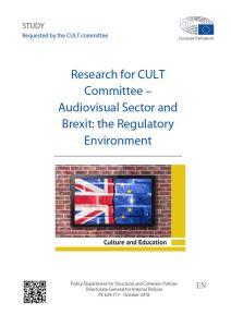 Audiovisual Sector and Brexit: the Regulatory Environment