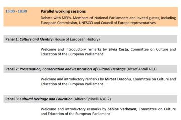 Interparliamentary Committee Meeting: European Cultural Heritage - day 1