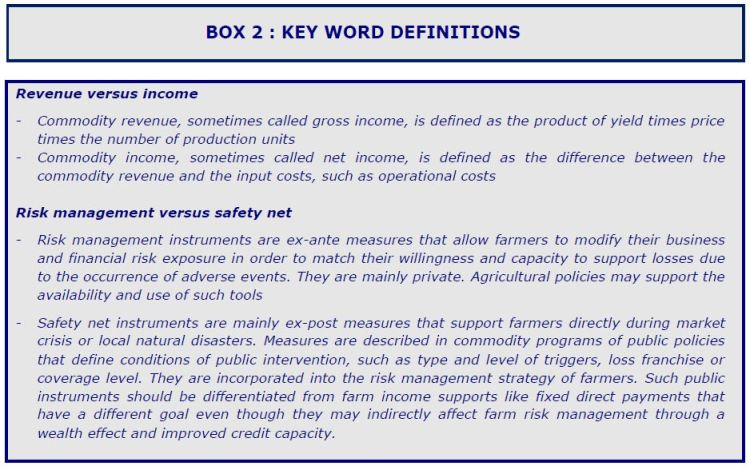 BOX 2 : KEY WORD DEFINITIONS