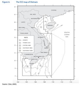 Figure 6: The EEZ map of Vietnam