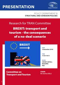 TRAN Study presentation: BREXIT: transport and tourism – the consequences of a no-deal scenario