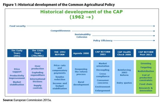 Figure 1: Historical development of the Common Agricultural Policy